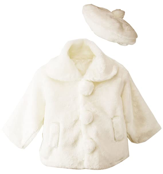137dd9a62 Amazon.com: Spring Notion Little Girls Faux Fur Coat with Hat: Clothing
