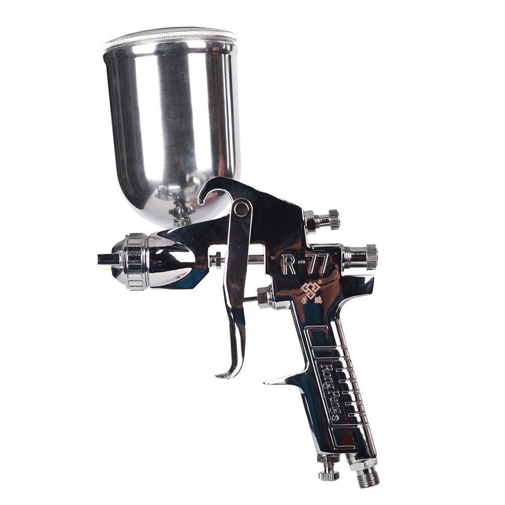 Ouya R77G Spray Gun Gravity Feed Paint Sprayer for Primer Spraying Nozzle Size 3.0mm|400cc Aluminum Cup