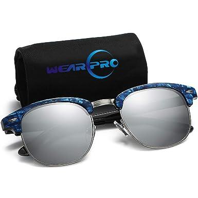 Amazon.com: Clubmaster anteojos de sol para hombres y ...