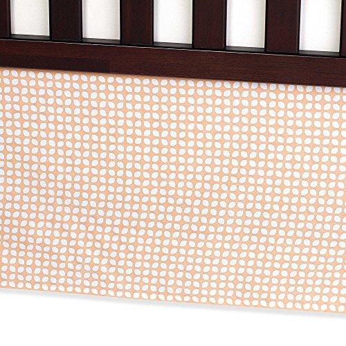 Carter's Crib Dust Ruffle, Orange Tile ()