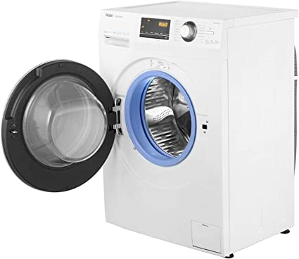 Haier HW70-B12636 1200 RPM Direct Motion Washing Machine with LED Display, 7 Kg, White [Energy Class A+++]