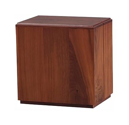 Modern Vertical Walnut Wooden Cremation Urn   100% Solid Walnut Wood    Adult Size