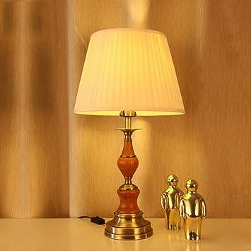 LWR Lámpara de Mesa rústica Americana de la lámpara de mesita de ...