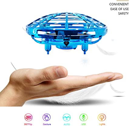 UFO Suspension LED IR Gesture Sensing Smart Toy Hand Mini Flying Saucer Aircraft