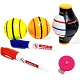 360 Degree Rotation Easy Ball Liner Drawing Alignment Putting Tool Kit - Golf Accessories - 360 long Triple 3 Line Golf Ball