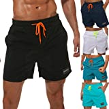 COCOPLAZA Men's Swim Trunks,Quick Dry Beach Shorts with Pockets Mesh Lining Swim Short