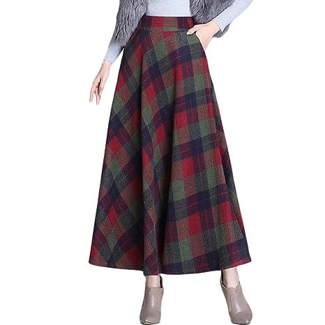 Liabb Las Faldas Damas Corte Ajustado Falda roja otoño y del ...