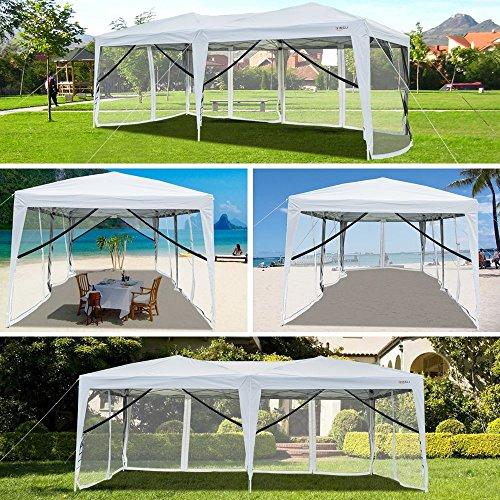 Vingli 10 X 20 Pop Up Canopy Tent Mesh Sidewalls Anti