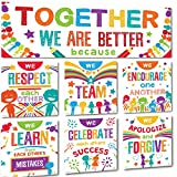 Sproutbrite Classroom Banner and Poster/Bulletin Board Set for Decorations - Together We are Better