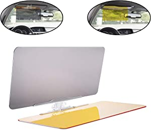 lebogner Auto Anti-Glare Day and Night Vision Sun Visor, Multifunctional 2 in 1 Car Sunshade & Night Vision Visor Extender, Windshield Driving Visor, Compatible with All Cars, SUVs, Trucks