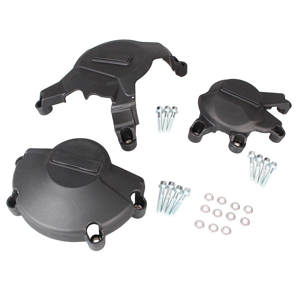 GZYF Motor Racing Engine Case Cover Protector Guard Set For Honda CBR600RR 2007-2012 BLK