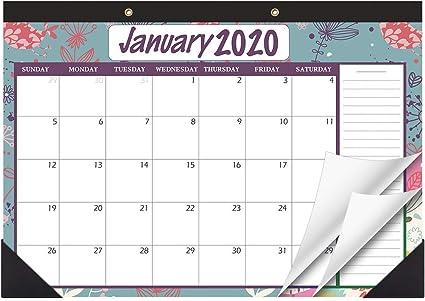 Calendario de mesa 2020-2021 de Stobok, grandes páginas mensuales ...