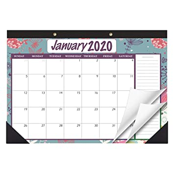 STOBOK Calendario de mesa 2020-2021 calendario de pared familiar ...