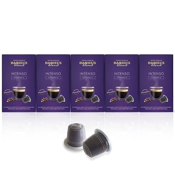 DANIELS BLEND - 50 Cápsulas de Café Compatibles con Máquinas Nespresso - INTENSO