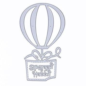 Heißluftballon Stanzformen Schablonen für DIY Prägepapier Karten machen