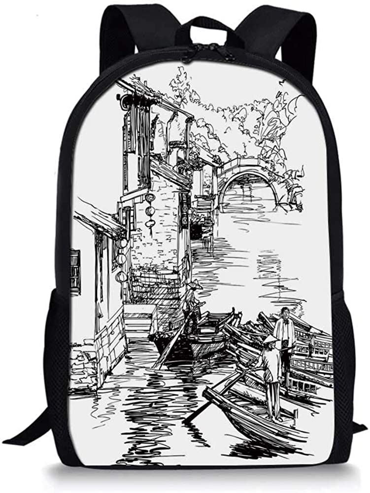 HOJJP ñ mochila escolar von ruedas Doodle Stylish School Bag,A Variety of Social Media Devices Drawn Abstract Manner Computer Photos Smartphone for Boys,11L x 5W x 17H: Amazon.es: Zapatos y complementos