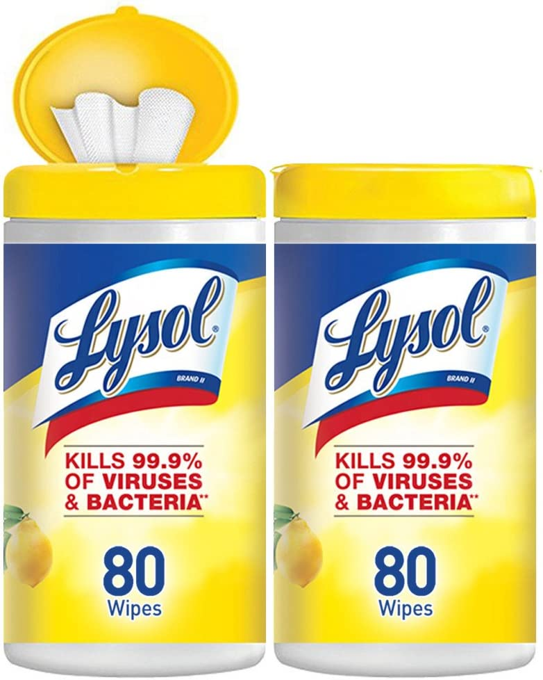Lysol Disinfecting Wipes, Lemon & Lime Blossom, 160ct: Health & Personal Care
