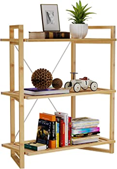 Bamfox 3-Tier Bamboo Bookshelf