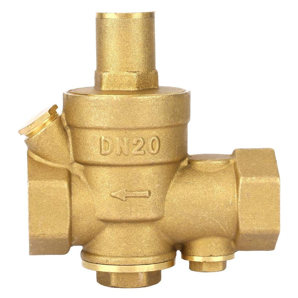 減圧バルブ、DN20減圧バルブフィルターネット付き真鍮調整可能水圧レギュレーター