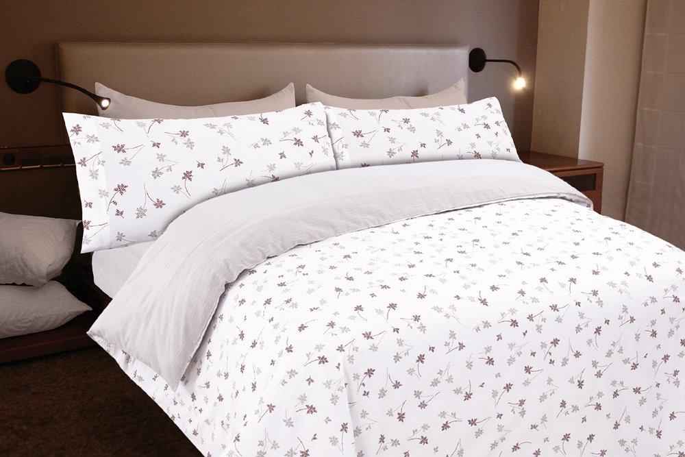 ADA, Para cama de 90x190//200 Montse Interiors Funda n/órdica Algod/ón 100/% Flores Beig N/órdico de 150