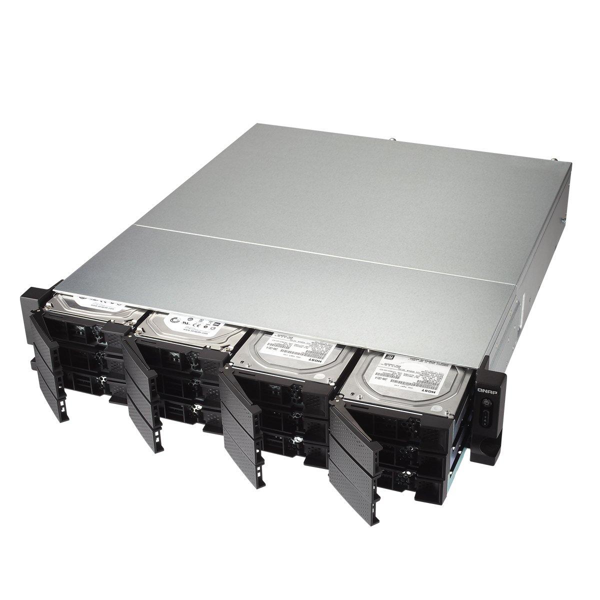 Qnap TS-1231XU-4G-US 12-Bay ARM-based 10G NAS, Quad Core 1.7GHz, 4GB DDR3 RAM, 2 x 10GbE SFP+, 2 x GbE, Single Power Supply by QNAP (Image #2)