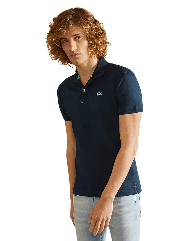 La Martina Hombres Camisa de Polo del Upton del Ajuste Delgado ...