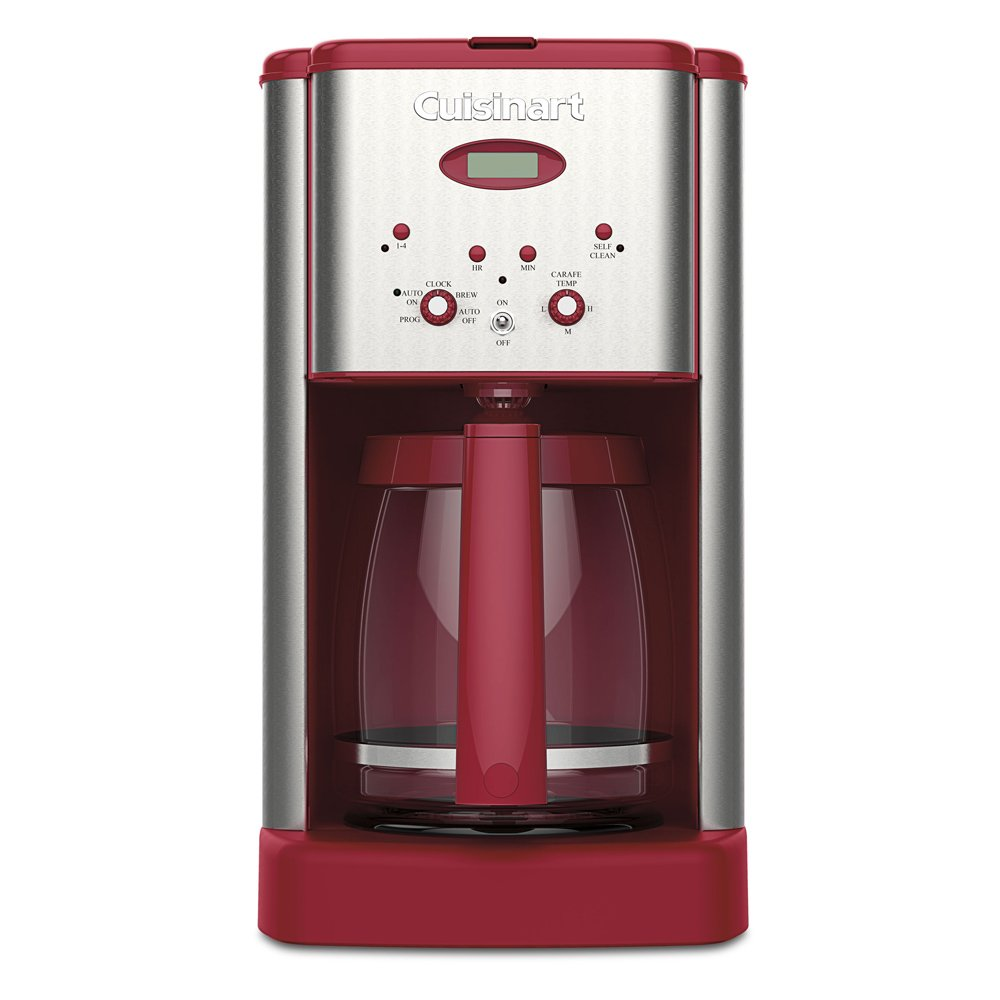 Cuisinart coffee maker stainless steel carafe - Amazon Com Cuisinart Dcc 1200rt 12 Cup Coffeemaker Stainless Steel Red Kitchen Dining