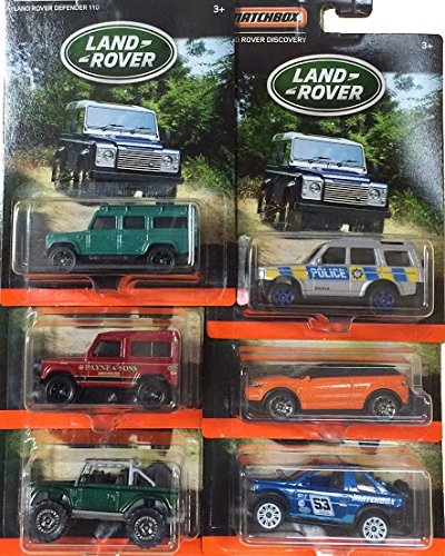 Defender 90 Land Rover (Matchbox Land Rover 6-vehicle exclusive set 2016 series Defender 110 / Range Rover Evoque / Land Rover SVX / Range Rover Sport Freelander Off-Road / Police Discovery / Land Rover Ninety)