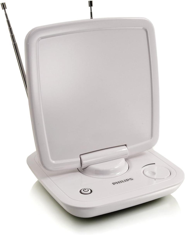Philips SDV6123/10 - Antena de TV para interior (UHF, VHF, FM, 46 dBi), color blanco