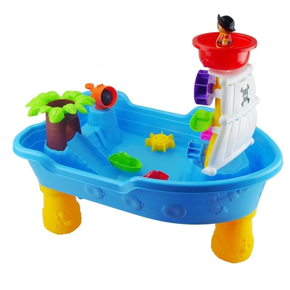 Sealive High Quality Pirate Corsair Sand and Water Activity Play Table Beach Toys Set 1 Pack,For Beach Grass Lawn Game Of Children