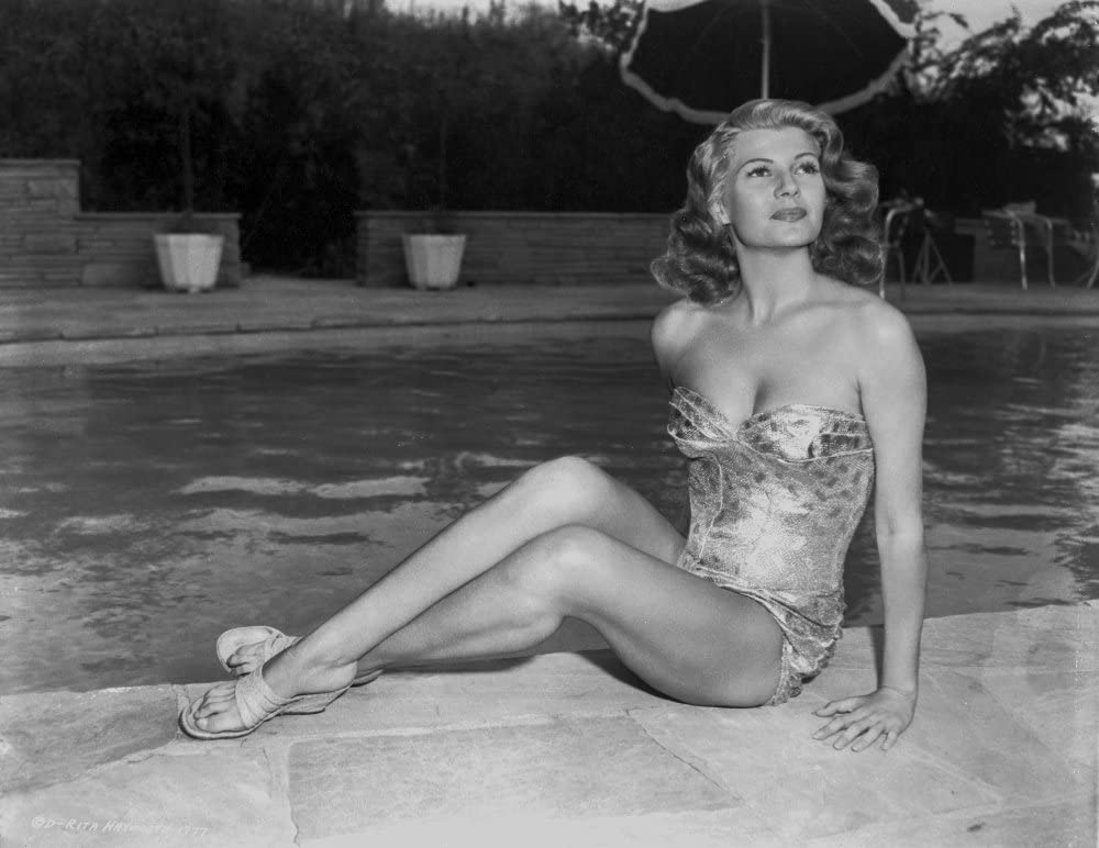 Amazon.com: Rita Hayworth Posed in a Swimming Suit Photo Print (10 x 8):  Posters & Prints