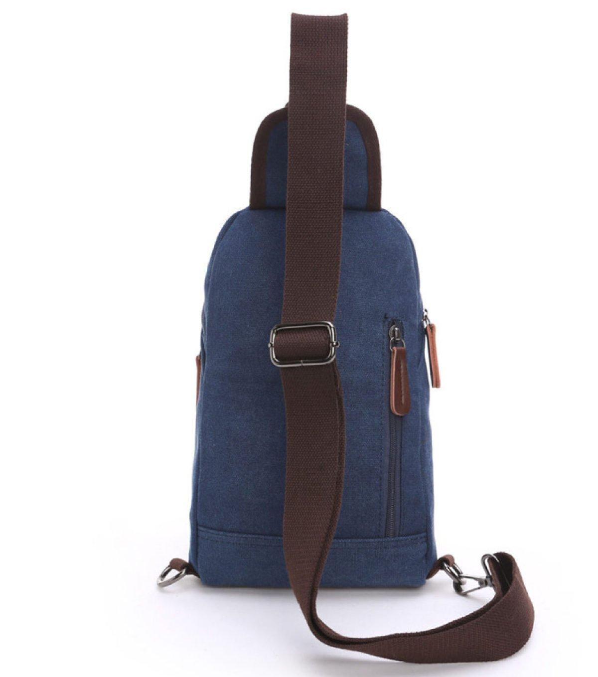 BAAFG Shoulder Backpack Sling Bag Chest Bags for Men Crossbody Messenger Bag Blue Canvas,NavyBlue-OneSize