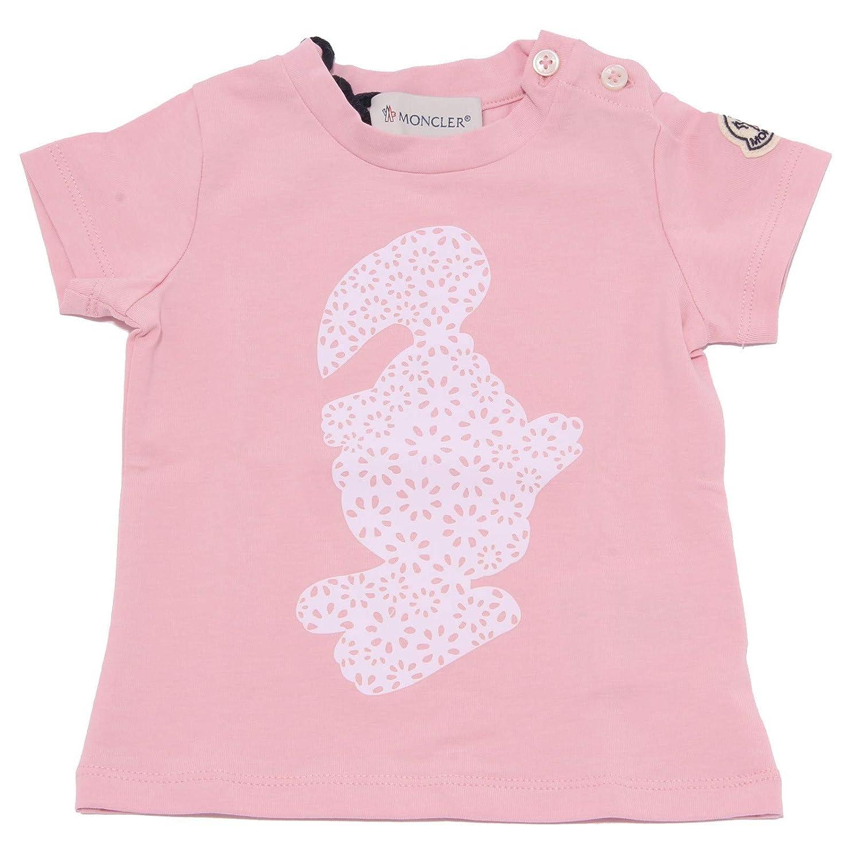 Rose 6 9 MONTHS MONCLER 4462X Maglia Bimba Girl rose t-Shirt