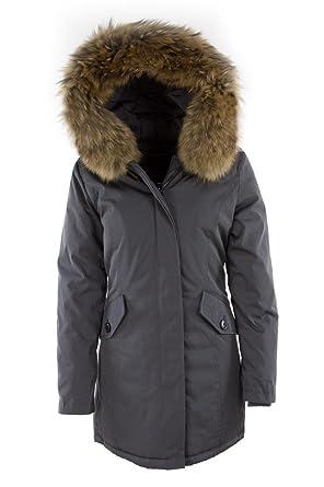 DSguided Damen Echtfell Winterjacke mit Kapuze in div. Farben Parka Jacke  Fell, Größe  ed495cb2eb