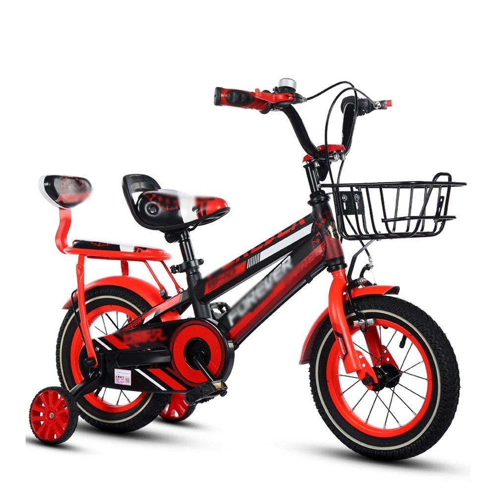 Kids 'Bikes 12 14 16 18インチガールズバイクブルーイエロー&レッドバックペダルブレーキ付き B07DV52334 12 inch|赤 赤 12 inch