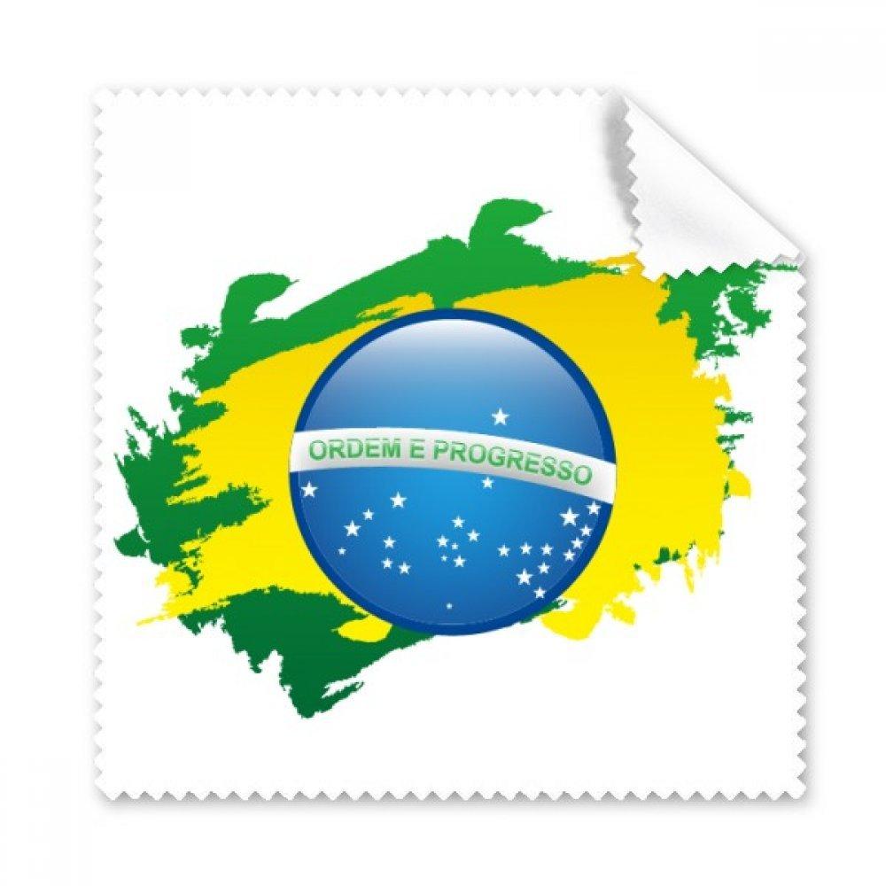 ブラジル国旗ブラジル国旗ブラジル文化要素Illustration Glasses布クリーニングクロスギフト電話画面クリーナー5点   B071YM3YJF
