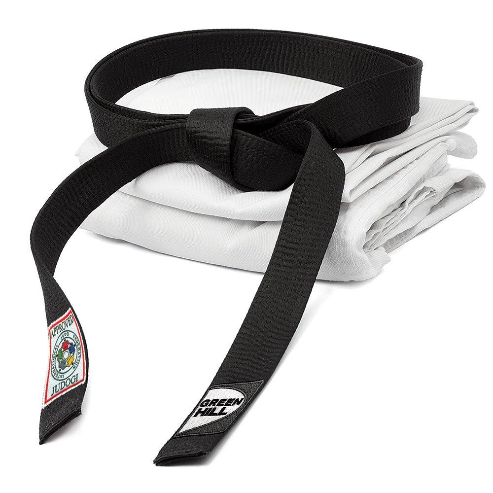 GREEN HILL Cintura Nera Omologata IJF Approved Judo GI Belt