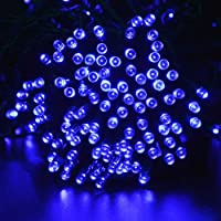 lederTEK Solar Powered Waterproof Fairy String Lights 72ft 22m 200 LED 8 Modes Christmas Decorative Lamp for Outdoor, Garden, Home, Wedding, Xmas Tree New Year Party