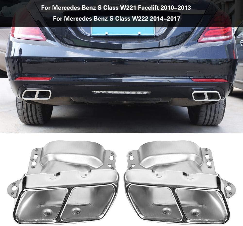 Embout d/échappement 2 PCs de tuyau d/échappement arri/ère pour silencieux d/échappement pour Mercedes Classe S W221 W222 2010-2017.