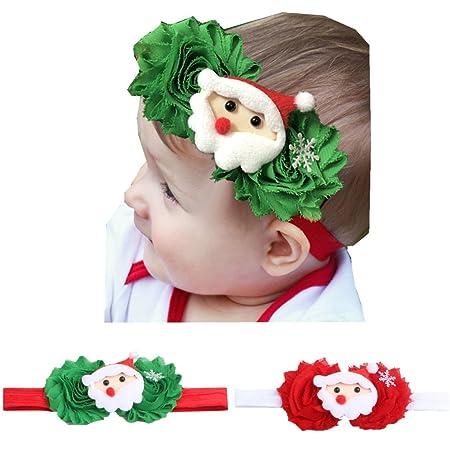 Infant Christmas Cartoon Baby Boy Girl Kid Headwrap Bow Elastic Hat Headwear Cap