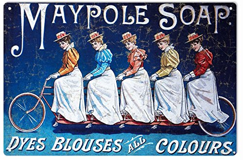 Metal Advertisement (Janet Carmen Counrty Maypole Soap Tin Sign, Counrty Maypole Soap Vintage Advertisement Metal Sign, 12