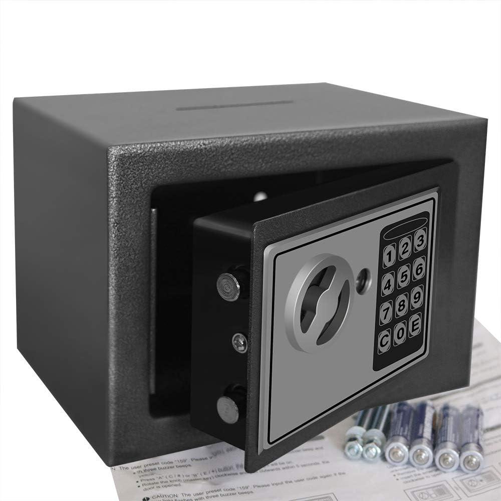 King Winner Safe Box, Safes and Lock Boxes, Money Box, Safety Boxes for Home, Digital Safe Box, Steel Alloy Drop Safe, Includes Keys