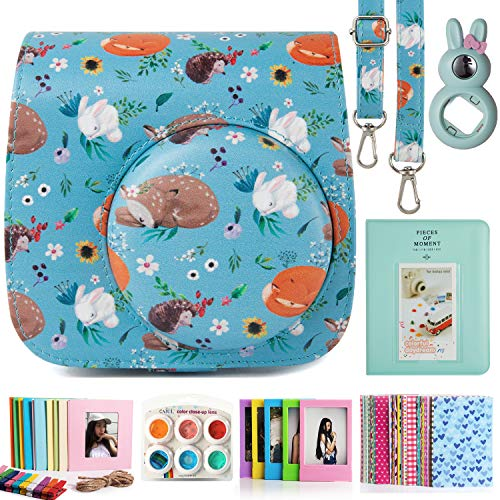 CAIUL Compatible Mini 9 Camera Case Bundle with Album, Filters and Other Accessories for Fujifilm Instax Mini 9 8 8+ (Animals)