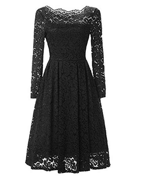 Leader of the Beauty Womens Lace Short Prom Dresses Vintage Cocktail Dress Bridesmaid Dresses Black UK