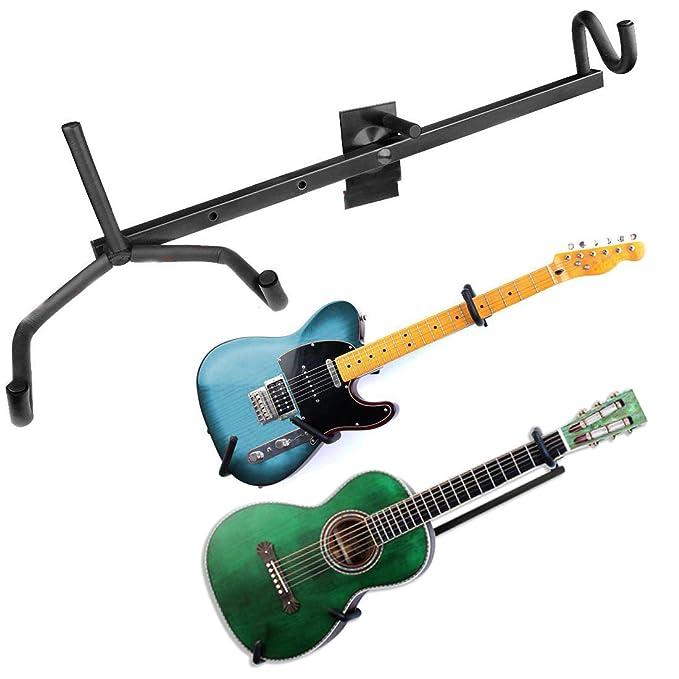 Soporte horizontal de pared para guitarra eléctrica, acústica, clásica, bajo y ukelele, de la marca JJOnlinestore: Amazon.es: Instrumentos musicales
