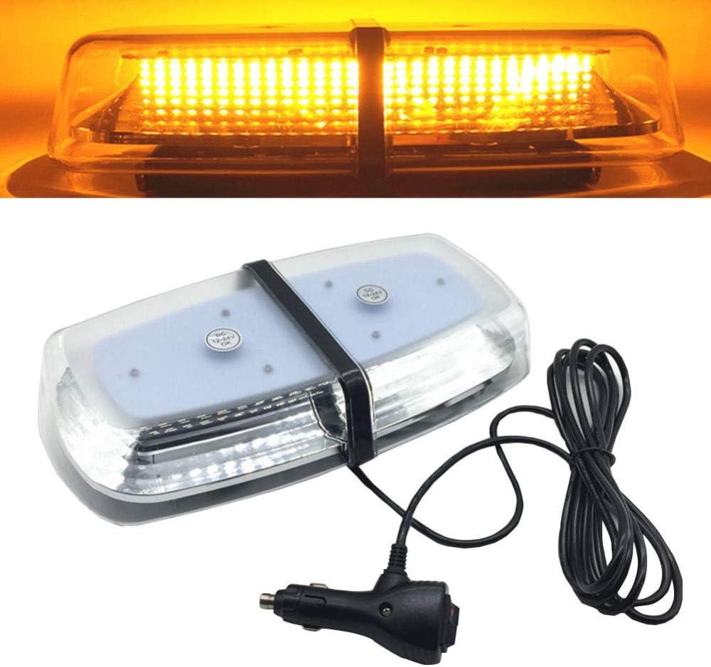 Lopbinte Dc12V 24V 72 Led ámbar Luz Estroboscópica del Techo del Coche Iluminación Lámpara de Advertencia Intermitente de Baliza de Emergencia Montado Magnético