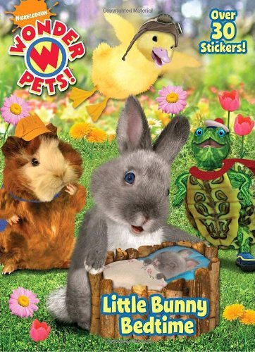 (By Golden Books Little Bunny Bedtime (Wonder Pets!) (Super Color with Stickers) (Act Clr Cs) [Paperback] )