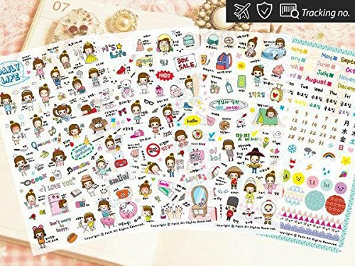 petitworld-stickers-diary-planner-scrapbooking-decoration-stickers-4-sheets