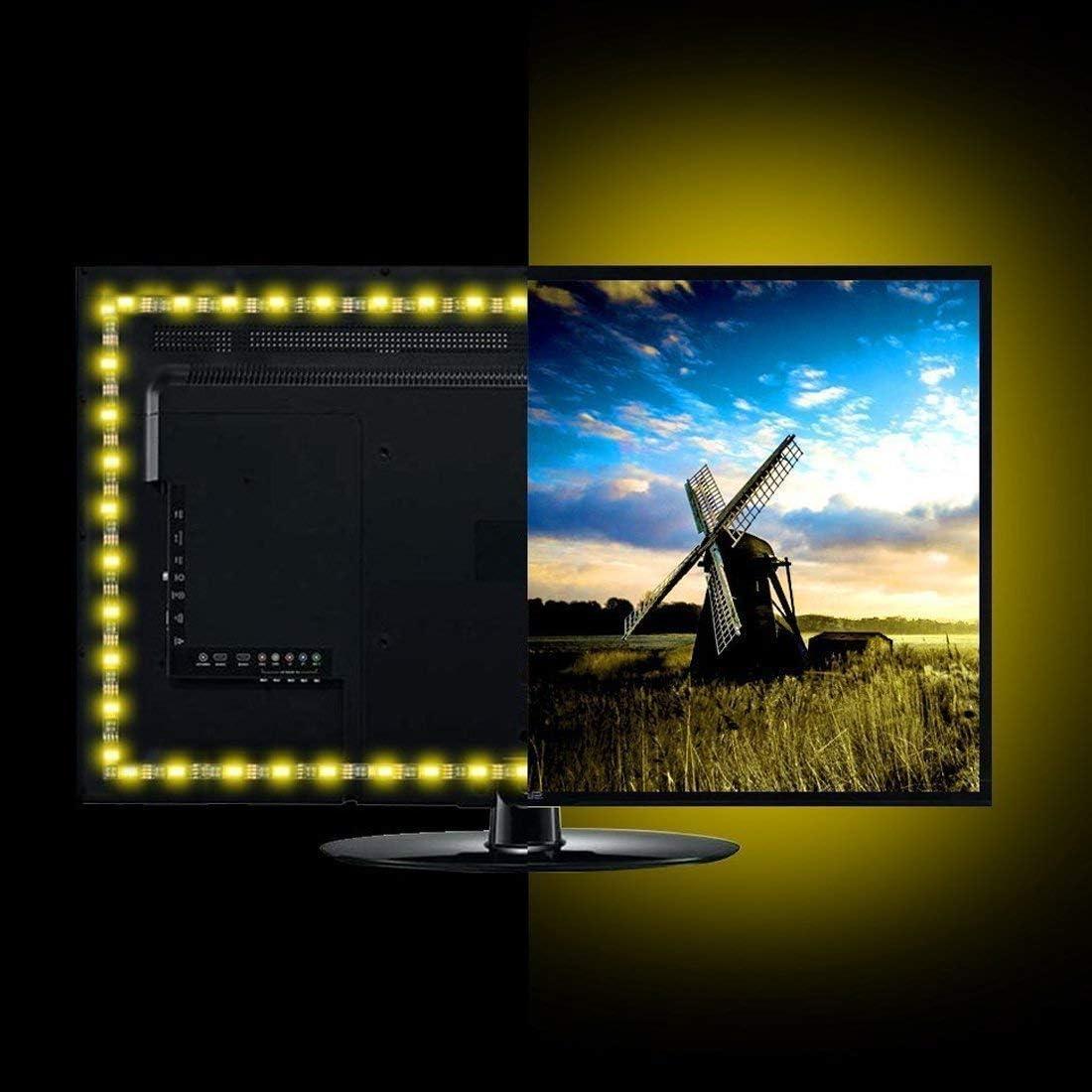 QiLi - Tira de luces LED para TV (USB, 5 V, multicolor, impermeable, flexible, con mando a distancia): Amazon.es: Iluminación