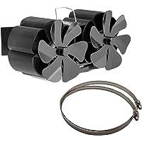 Werstand Warmte aangedreven kachelventilator voor hout,12 messen open haard ventilator, warmte aangedreven kachel Top…